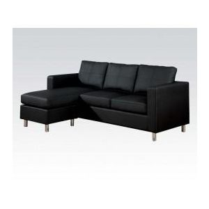 KEMEN BLACK PU REV. CHAISE SECTIONAL