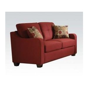 CLEAVON II RED LOVESEAT