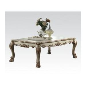 DRESDEN GOLD PATINA/ BONE PU COFFEE TABLE