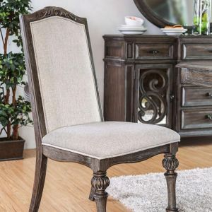 Arcadia Rustic Natural Tone Ivory Table Chair(2PK)