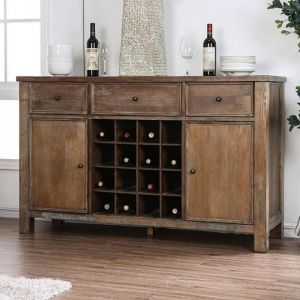 Sania Rustic Oak Server