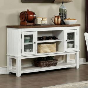 Auletta Distressed White Distressed Dark Oak Server