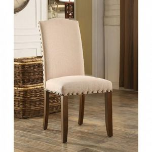 Brentford Espresso Beige Table Chair(2PK)