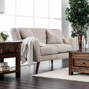 Brecker Beige Loveseat