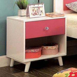 Alivia White Pink Nighstand