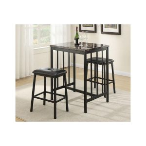 POUNDEX 3-PCS COUNTER HEIGHT DINING SET F2154