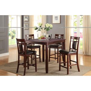 POUNDEX 5-PCS COUNTER HEIGHT DINING SET F2252