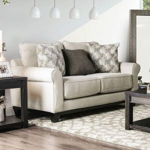 Asma Beige Gray Loveseat
