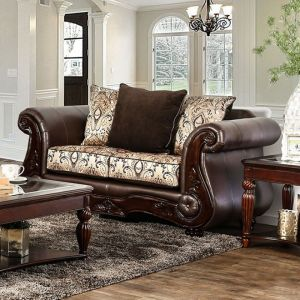 Alessio Brown Loveseat