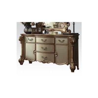 VENDOME GOLD PATINA FINISH/BONE PU DRESSER