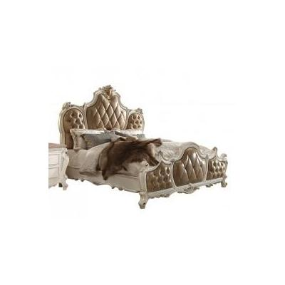 PICARDY PU/ANTIQUE PEARL EA-KING BED