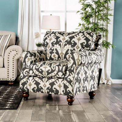 Calloway Ivory Gray Pattern Chair